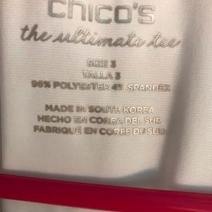 Chico's Tops - Chico's White Polyester Shirt Sleeved Shirt